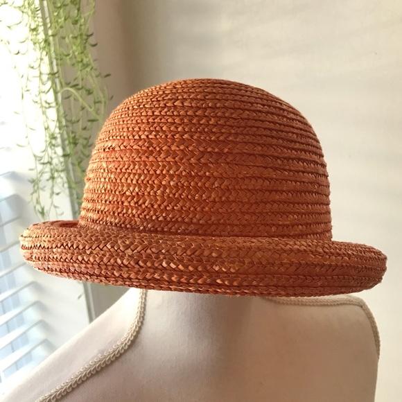 Accessories - Vintage Orange Bowler Hat 6b6bdbab359